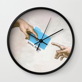 Sharing is caring bitch Wall Clock