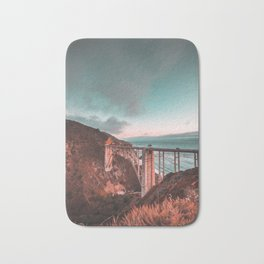 Bixby Bridge Sunset Bath Mat