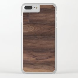 cherry plank Clear iPhone Case