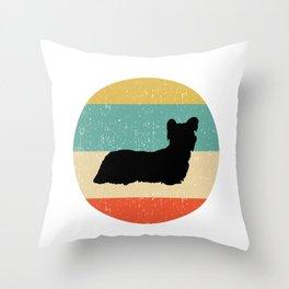 Skye Terrier Dog Gift design Throw Pillow