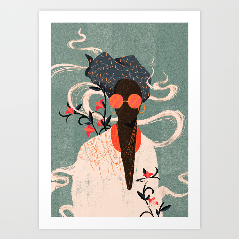 illustration and pattern art prints society6