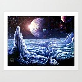 Frost Moon Art Print