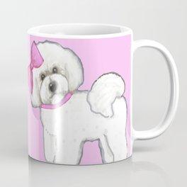 Bichon Frise friends on pink Coffee Mug