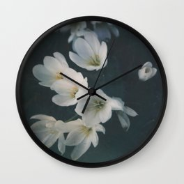 autumn crocus Wall Clock