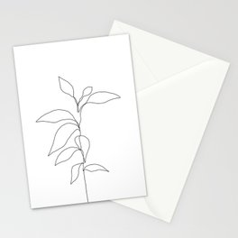 Single line plant drawing - Danya Stationery Cards