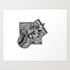 //.SSJ Art Print