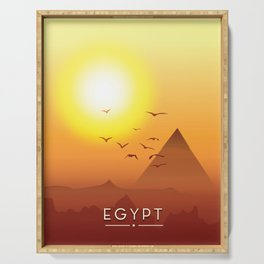 Vintage Egypt travel poster, Serving Tray