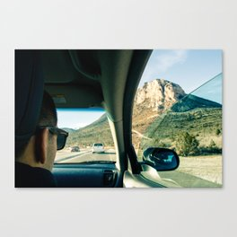 Driving to the Mountains Outside of Las Vegas Canvas Print