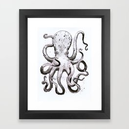Inky Octopus Framed Art Print