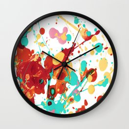 Paint Party 2 Abstract Wall Clock