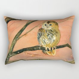 Colorful Owl Art Rectangular Pillow
