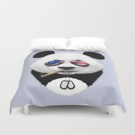 USA Panda Duvet Cover