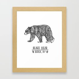 Black Bear - Berea KY Framed Art Print