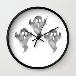 Halloween Triple Scary Ghost Wall Clock