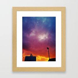 Rainbow clouds Framed Art Print
