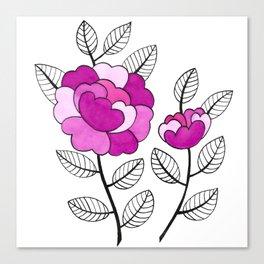 Rosette Mauve Canvas Print