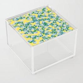 Summer Flowers Yellow Acrylic Box