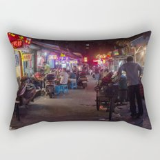 Shanghai Streets Rectangular Pillow
