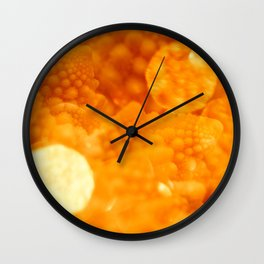 Macro Romanesco Broccoli - Bokeh Gold Wall Clock