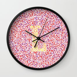"""L"" Eye Test Full Wall Clock"