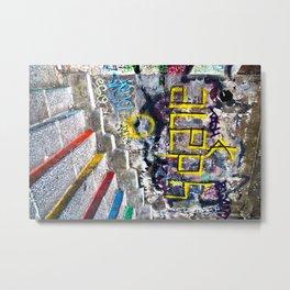Sicilian Facade with Graffiti Metal Print
