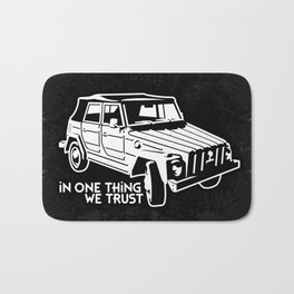 VW 181 - In one Thing we trust (white) Bath Mat