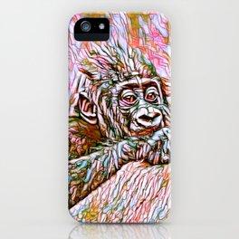 ColorMix Gorilla Baby iPhone Case