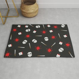 Friday the 13th pattern Rug