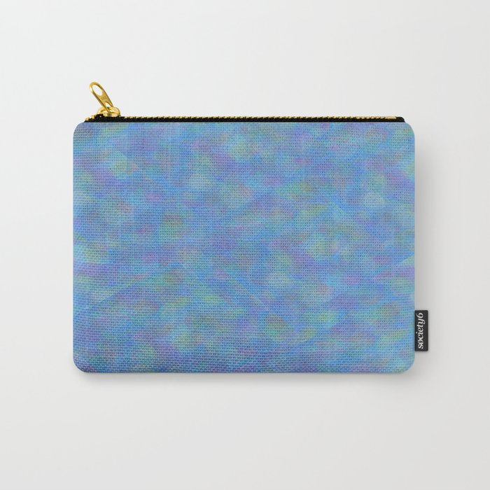 Soft Blue Cubism Abstract Carry-All Pouch