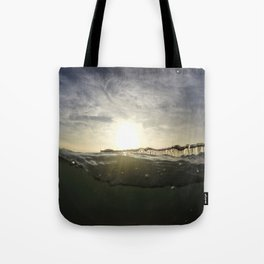 Drunken Pier Tote Bag