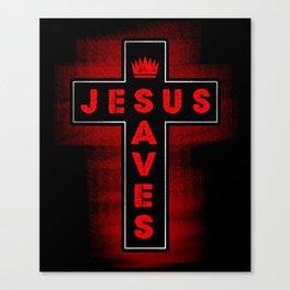 Jesus Saves - Religion God Christ Cross Faith Canvas Print