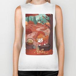 Autumn time | Giadina and mushrooms Biker Tank
