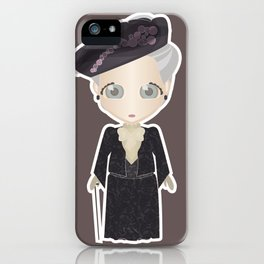 Violet Crawley, Dowager Countess of Grantham iPhone Case