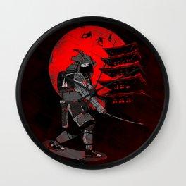 Skater Samurai Wall Clock