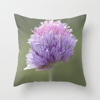 clover Throw Pillows featuring Clover by Fran Walding