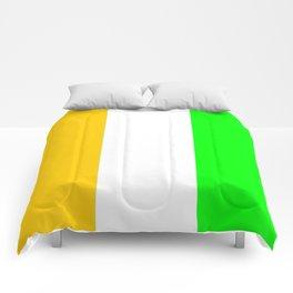flag of ivory coast 2-africa,ivorian,ivoirian,cote d'ivoire,ivorien,abidjan,yamoussokro Comforters