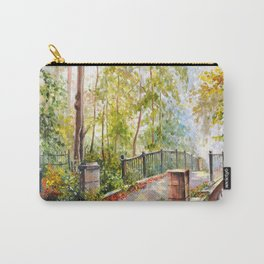 Bridge in the autumn park Carry-All Pouch