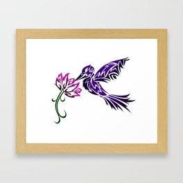 Hummingbird W/ Flower Framed Art Print