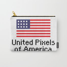 United Pixels of America (USA 8bit Flag) Carry-All Pouch