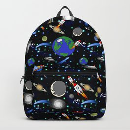 Galaxy Universe - Planets, Stars, Comets, Rockets Backpack