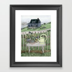 Cottage at the Sea Framed Art Print