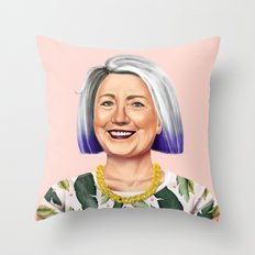 Hipstory - Hillary Clinton Throw Pillow