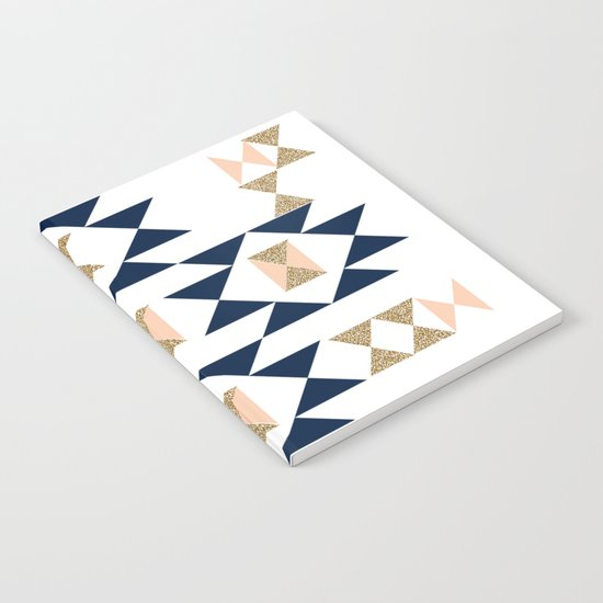 Jacs - Modern pattern design in aztec themed pattern navajo print textile cute trendy girl Notebook