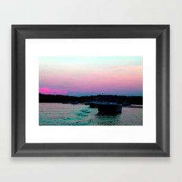A good day for a boat ride Framed Art Print