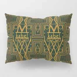 Kabel Type Portrait Green  Pillow Sham