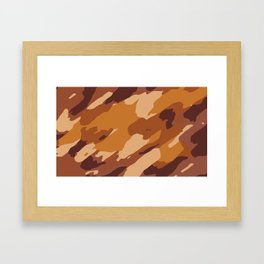 brown and dark brown painting abstract background Framed Art Print