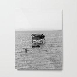 Sea Hut Metal Print