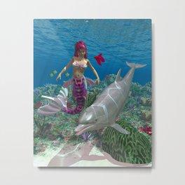 Beauty Mermaid Metal Print