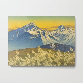 Kawase Hasui Japanese Woodblock Print Shin-hanga Ukiyo-e Landscape, Mountain  1946-1957 Metal Print