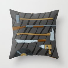 Horrible Weapons Throw Pillow